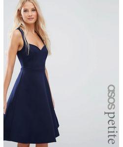 ASOS PETITE | Приталенное Платье Миди С Глубоким Вырезом Сердечком