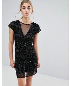 Miss Selfridge | Облегающее Платье С Геометрической Отделкой Бисером