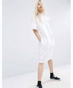 ASOS WHITE | Платье-Рубашка С Перекрестом На Горловине