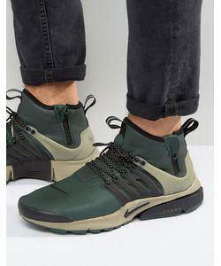 Nike | Зеленые Кроссовки Средней Высоты В Стиле Милитари Air Presto 859524-300