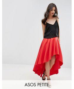 ASOS PETITE | Premium Scuba High Low Prom Skirt