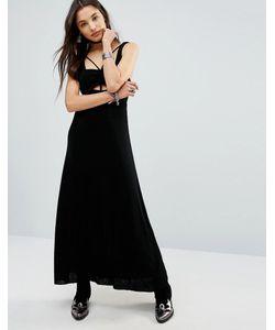 Free People   Платье Макси С Вырезами И Отделкой В Восточном Стиле