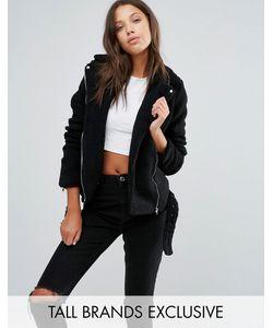 Missguided Tall | Байкерская Куртка Из Искусственной Цигейки Эксклюзивно Для