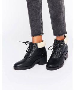 New Look | Ботинки На Шнуровке С Подкладкой Из Искусственного Меха