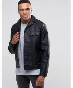 New Look | Черная Куртка Из Искусственной Кожи В Стиле Вестерн