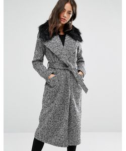 New Look | Пальто Макси Из Искусственного Меха С Поясом
