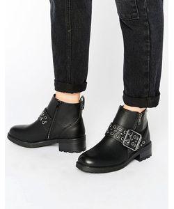 New Look | Ботинки Из Исскуственной Кожи С Ремешком На Пряжке