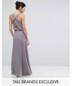 Little Mistress Tall | Декорированное Платье Макси С Открытой Спиной