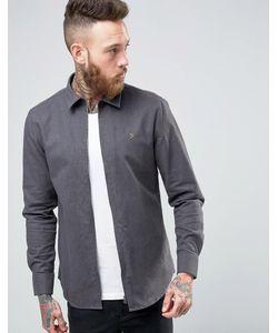 Farah | Серая Рубашка Классического Кроя На Молнии
