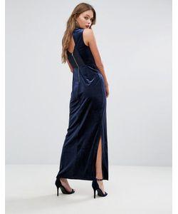 Vero Moda | Бархатное Платье Макси С Кружевной Спиной