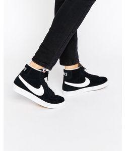 Nike   Черно-Белые Замшевые Кроссовки Blazer