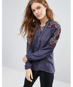 Hazel | Блузка С Вышивкой На Рукавах