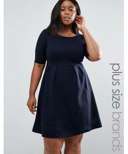 Junarose | Приталенное Платье Размера Плюс East