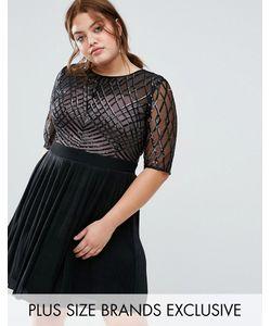 Little Mistress Plus | Короткое Приталенное Платье С Пайетками