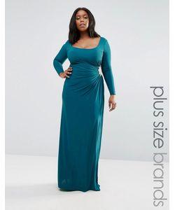 Goddiva plus | Платье Макси С Декоративной Отделкой
