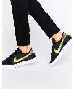 Nike | Черные Кроссовки С Голографической Отделкой Classic