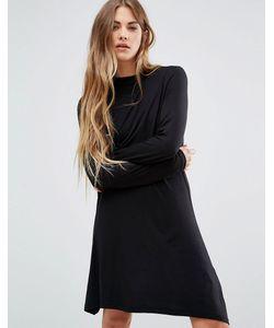 Brave Soul | Короткое Приталенное Платье С Высоким Воротом