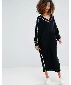 SHAE | Платье С Контрастной Отделкой Dolman Shadow