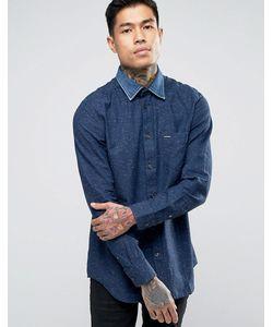 Diesel | Рубашка В Крапинку С Джинсовым Воротником S-Napp