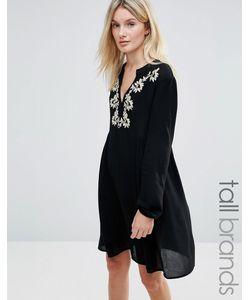 Brave Soul Tall   Платье С Вышивкой У Горловины