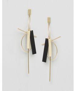 Cara Jewellery | Серьги-Подвески С Геометрической Отделкой Cara Ny