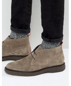 Asos | Замшевые Ботинки Чукка На Танкетке