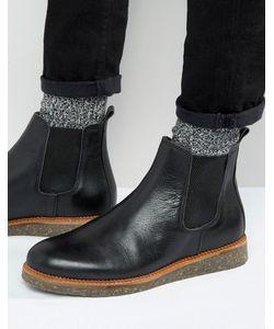 Asos | Черные Кожаные Ботинки Челси На Пробковой Подошве