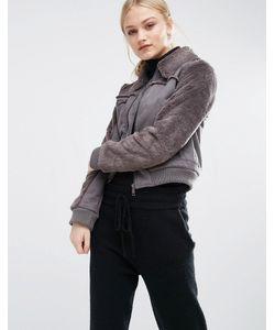 J.O.A | Укороченная Куртка Из Искусственной Овечьей Шерсти