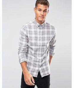 Selected Homme | Рубашка В Клетку С Воротником На Пуговицах Plus
