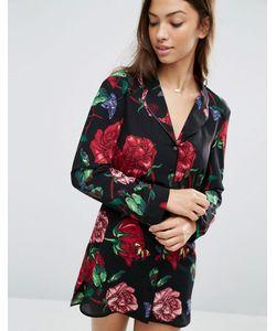 Asos | Креповая Ночная Рубашка С Цветочным Принтом