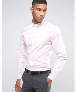 Asos | Пыльно-Розовая Рубашка Узкого Кроя