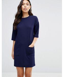 Asos | Фактурное Цельнокройное Платье С Карманами
