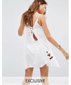 Akasa | Пляжное Платье С Помпонами