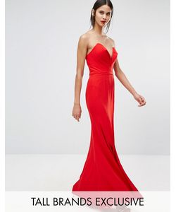 Jarlo Tall | Платье Макси С Глубоким Вырезом Сердечком Helena