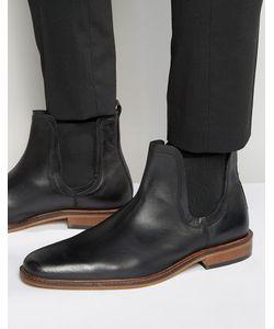 Dune | Черные Кожаные Ботинки Челси