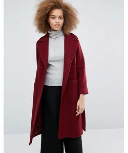 Helene Berman | Бордовое Пальто С Поясом Becca