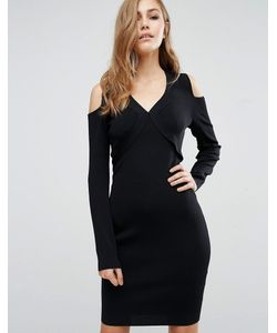 SuperTrash   Облегающее Платье С Вырезами На Плечах Damara