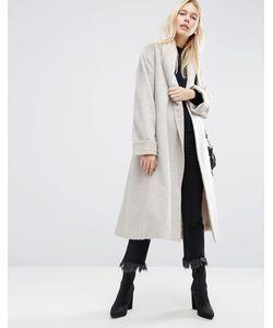 Asos | Мягкое Фактурное Пальто С Поясом