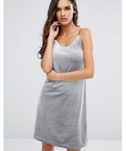Vero Moda | Бархатное Платье В Рубчик