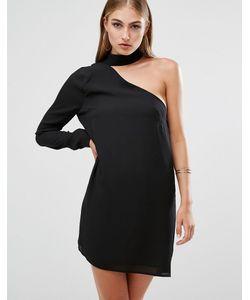 MISSGUIDED | Асимметричное Цельнокройное Платье С Горловиной-Чокер