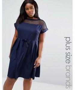 Praslin   Платье С Сетчатой Вставкой Сверху Plus