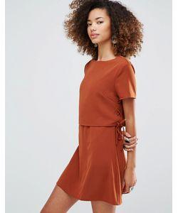 Glamorous | Однотонное Цельнокройное Платье