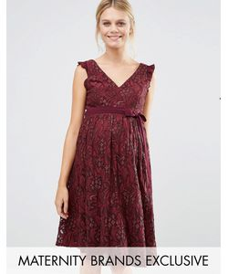 Little Mistress Maternity   Кружевное Приталенное Платье Для Беременных