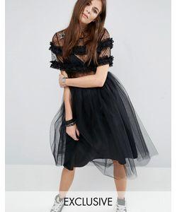 Reclaimed Vintage | Платье Из Тюля С Нашивками-Звездами