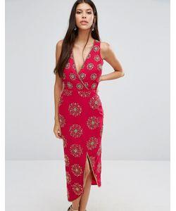 Virgos Lounge | Платье Миди С Декоративной Отделкой Daria