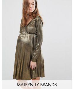 Bluebelle Maternity | Платье Для Беременных С Длинными Рукавами И Запахом