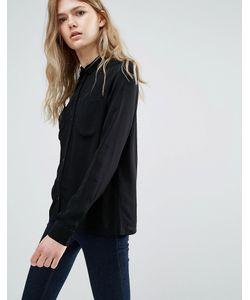 Vila | Рубашка С Контрастными Пуговицами