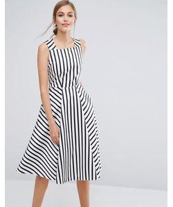 Closet London | Платье Миди В Полоску Closet Premium
