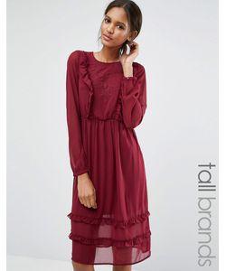 Vero Moda Tall | Платье С Рюшами Спереди