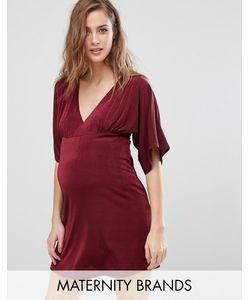Missguided Maternity   Платье Для Беременных С Рукавами-Кимоно И V-Образным Вырезом